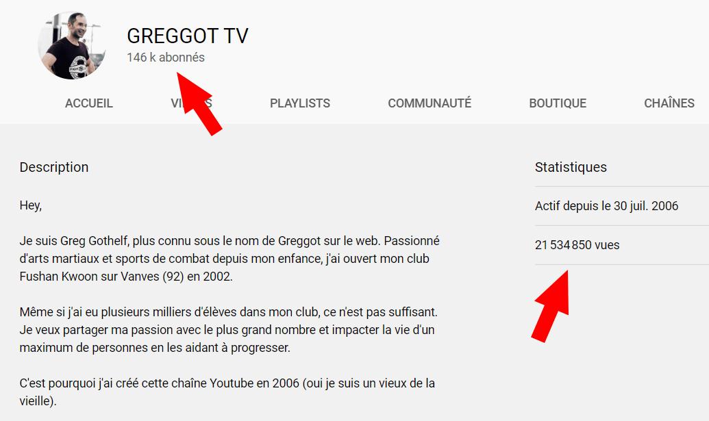 Chaîne Youtube GREGGOT TV