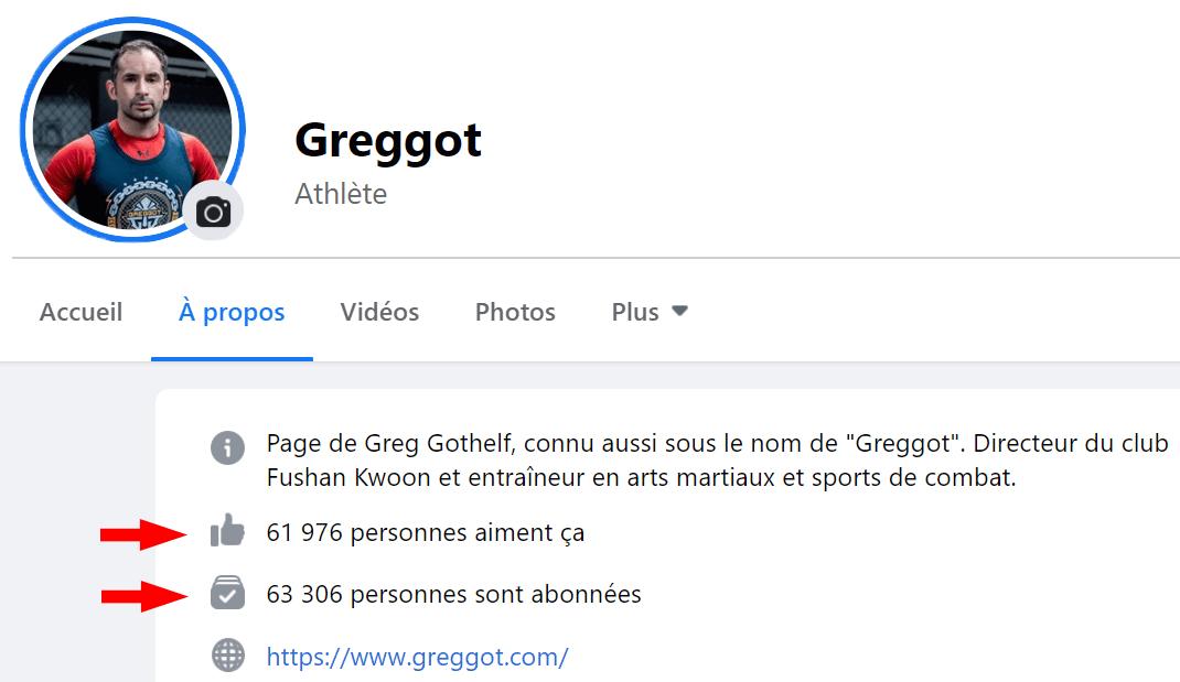Page Facebook Coach Greggot